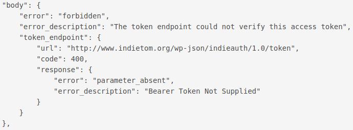 Bearer token not supplied
